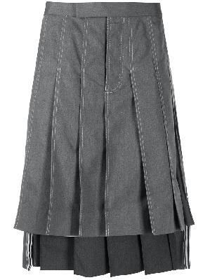 Thom Browne knee-length pleated skirt
