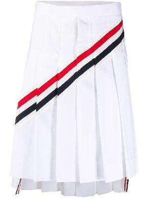 Thom Browne RWB-stripe pleated skirt