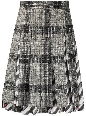 Thom Browne pleated check-pattern suit skirt