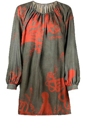 Uma Wang octopus print silk blouse