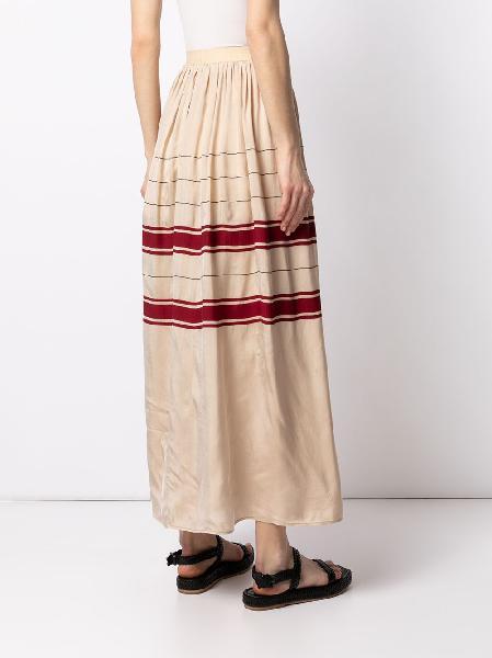 Uma Wang Gillian stripe-detail skirt