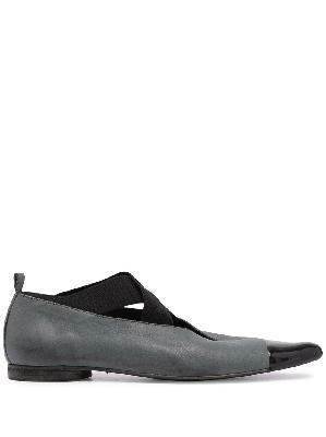 Uma Wang two-tone ballerina shoes