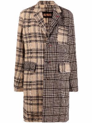 Uma Wang check-print tailored coat