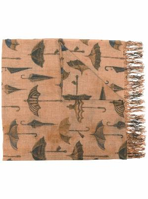 Uma Wang graphic-print virgin wool scarf