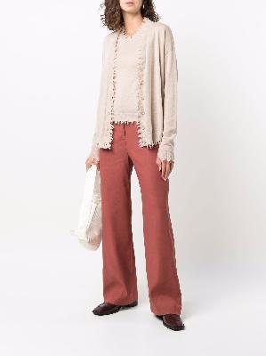 Uma Wang frayed-edge cashmere cardigan