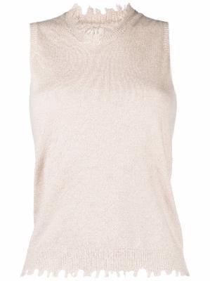 Uma Wang raw-edge cashmere top
