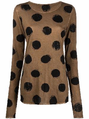 Uma Wang polka-dot print knitted top