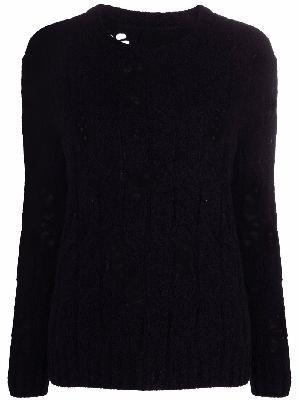 Uma Wang distressed knitted jumper
