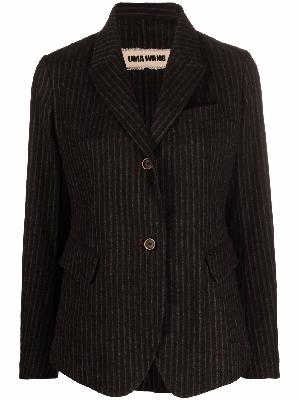 Uma Wang pinstripe-pattern buttoned blazer