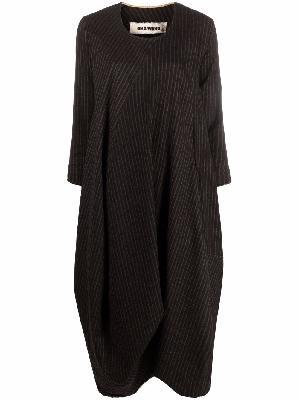 Uma Wang pinstripe-pattern draped dress