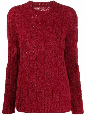 Uma Wang distressed-finish sweater