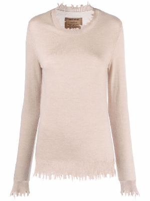 Uma Wang distressed cashmere jumper
