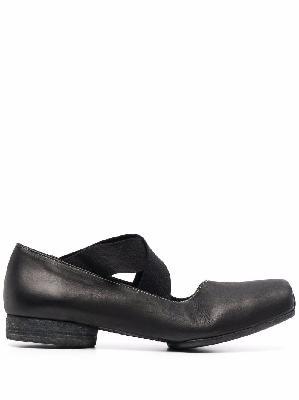 Uma Wang square-toe leather ballerina shoes