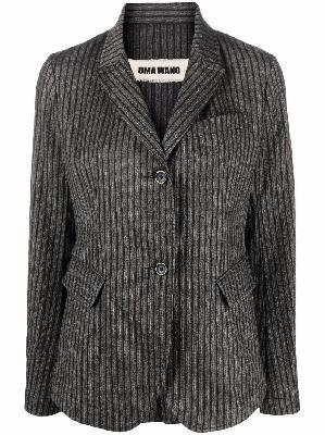 Uma Wang pinstripe print blazer