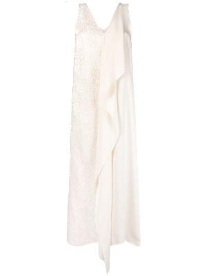 Uma Wang pleated draped linen-blend dress