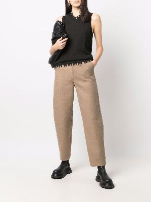 Uma Wang frayed-edge sleeveless top