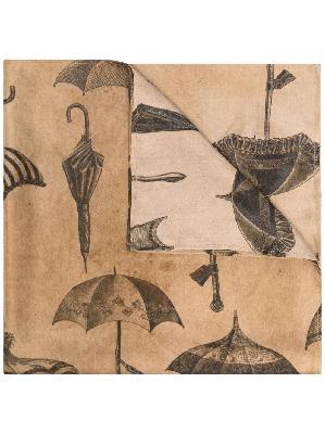 Uma Wang umbrella-print silk scarf