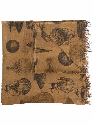Uma Wang balloon-print cotton scarf