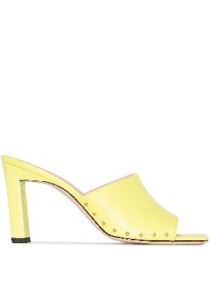 Wandler Nana 85mm square-toe leather mules