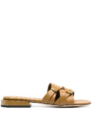 Wandler Lara crossover-strap slippers