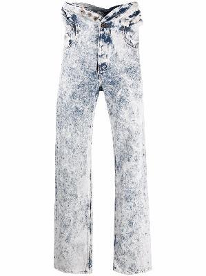 Y/Project acid wash jumpsuit jeans