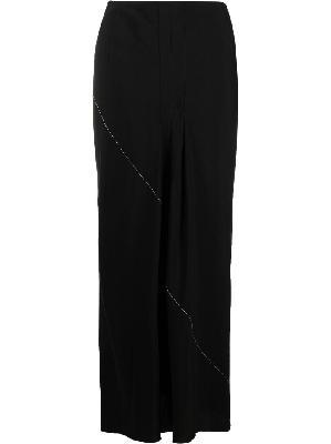 Yohji Yamamoto contrast-stitch A-line skirt