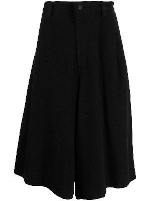 Yohji Yamamoto flared pleated midi skirt