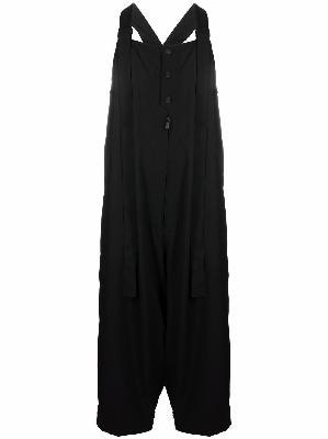 Yohji Yamamoto button-fastening drop-crotch jumpsuit