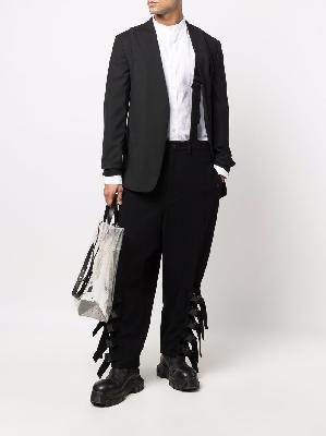 Yohji Yamamoto strap-detail dungarees