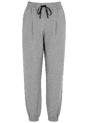 Grey mélange cotton sweatpants