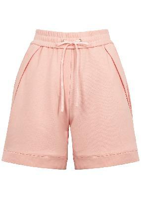 Pink cotton-jersey shorts