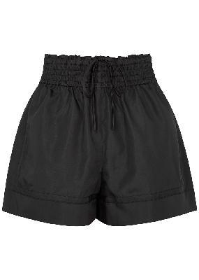 Black taffeta shorts
