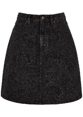 Reese paisley-print denim mini skirt