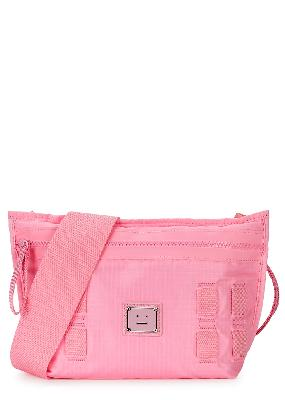 Agios Face pink ripstop shell cross-body bag
