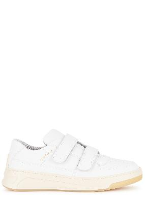 Steffey white leather sneakers