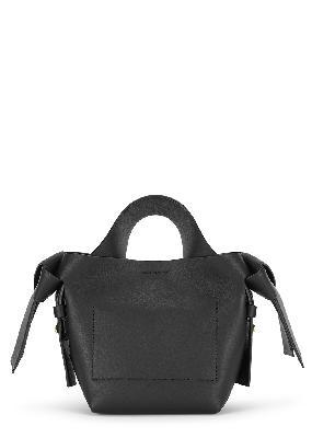 Musubi micro black leather cross-body bag