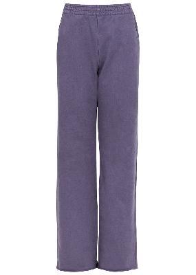 Faidelle purple cotton sweatpants