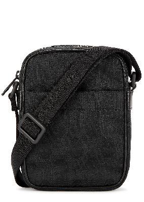 Biker Skull black canvas cross-body bag