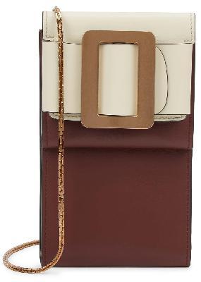 Buckle Flap leather cross-body phone case