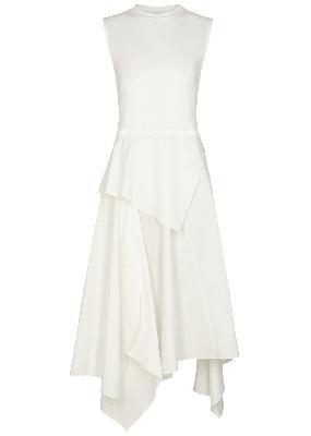White cotton midi dress