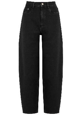 Chamomile black barrel-leg jeans