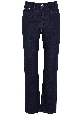 Carnation blue cropped straight-leg jeans