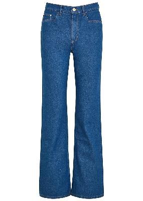 Daisy blue bootleg jeans