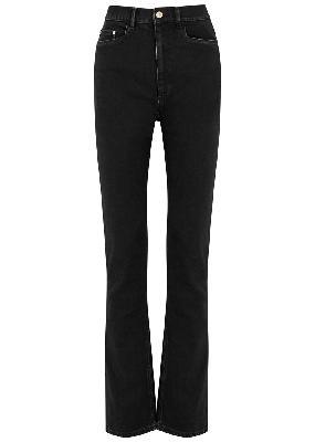 Aster black straight-leg jeans