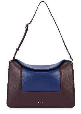 Penelope two-tone leather top handle bag