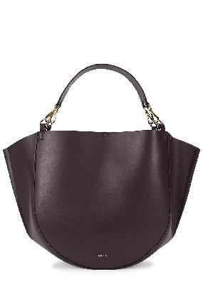 Mia burgundy leather tote