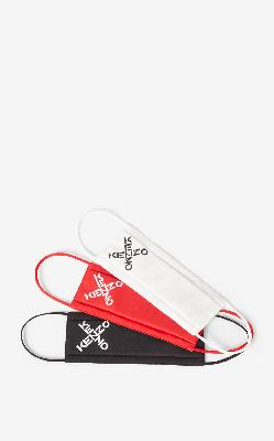 KENZO KENZO Sport pack of 3 face protection masks tricolor