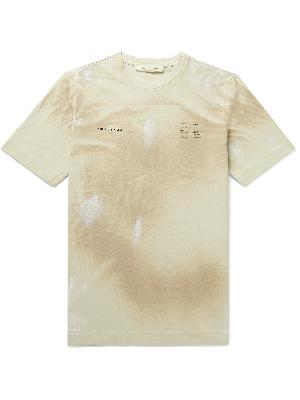 1017 ALYX 9SM - Distressed Printed Cotton-Jersey T-Shirt