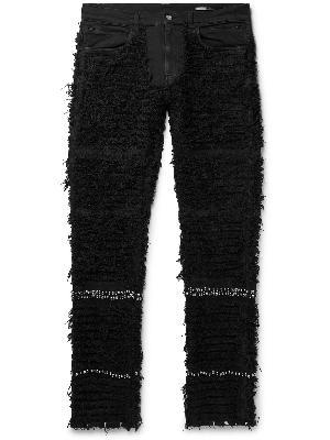 1017 ALYX 9SM - Blackmeans Embellished Distressed Stretch-Denim Jeans