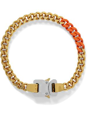 1017 ALYX 9SM - Gold-Tone and Enamel Necklace
